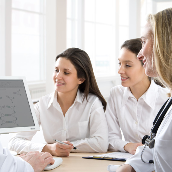 Physicians analyzing their work